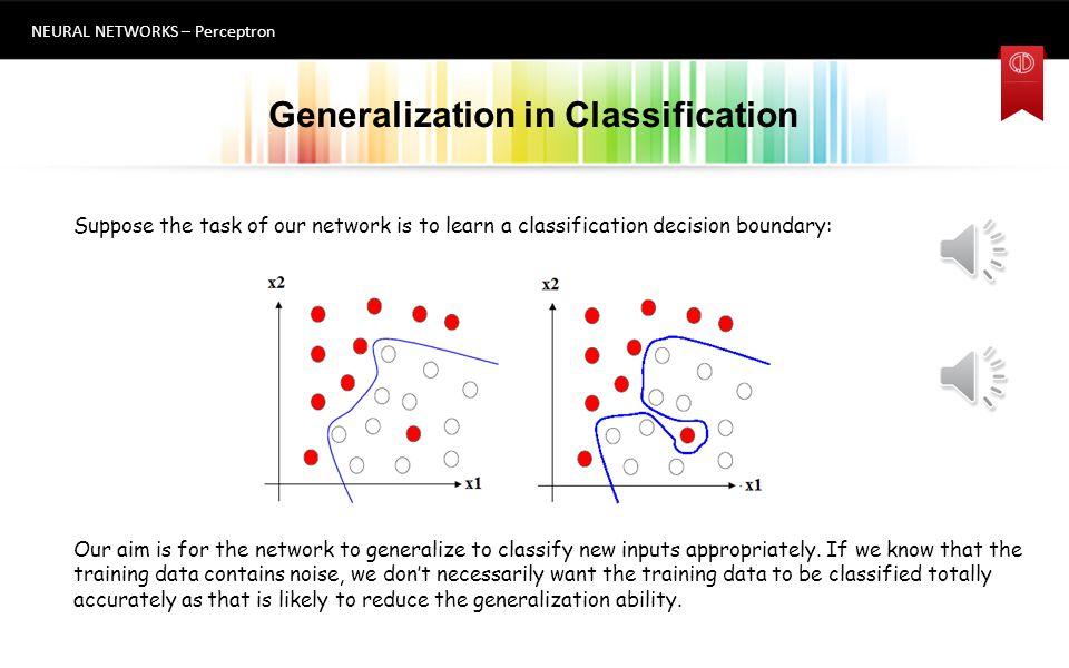 Generalization in Classification