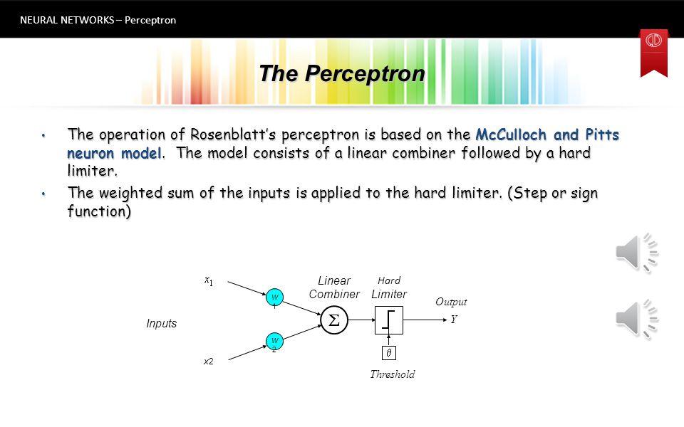 NEURAL NETWORKS – Perceptron