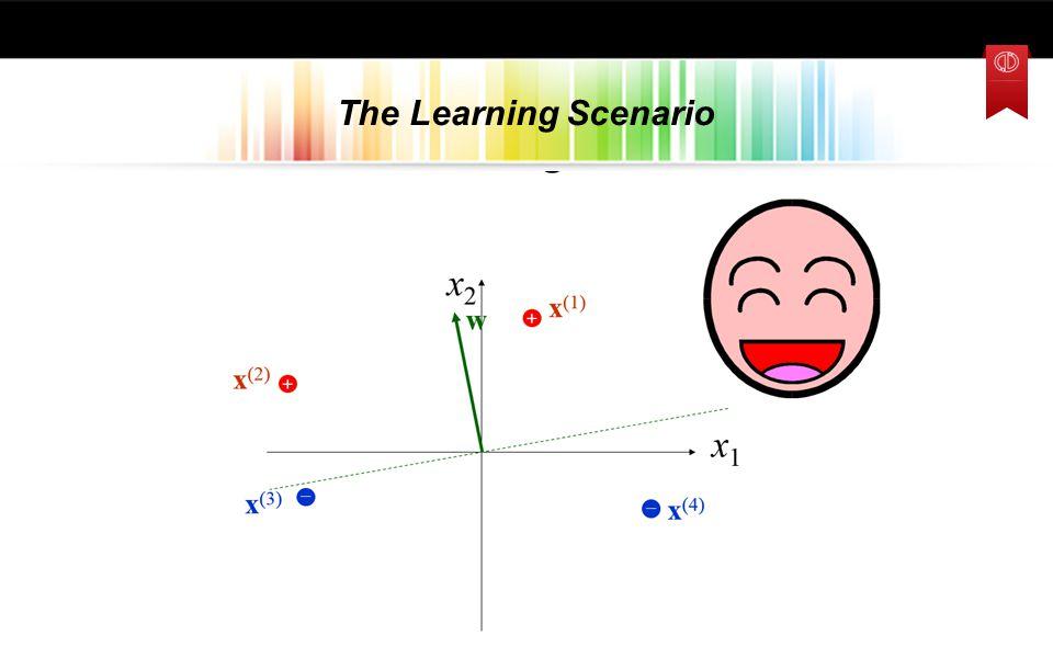 The Learning Scenario