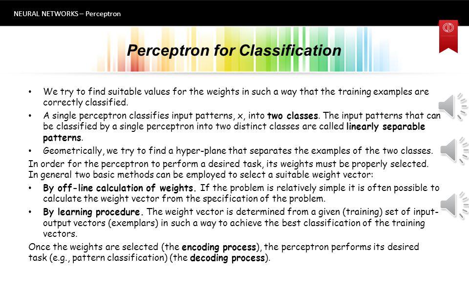 Perceptron for Classification
