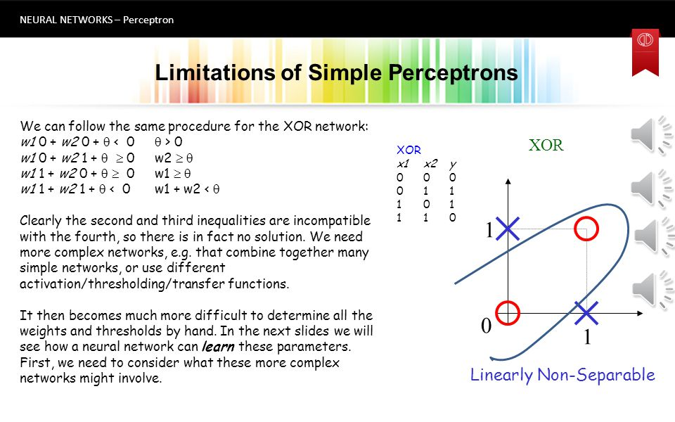Limitations of Simple Perceptrons
