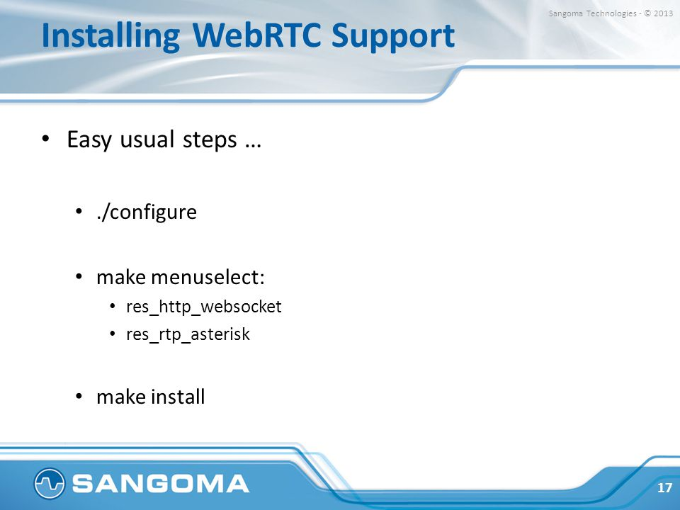 Installing WebRTC Support
