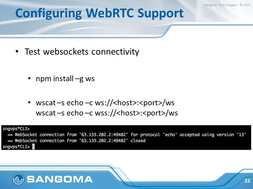 Configuring WebRTC Support