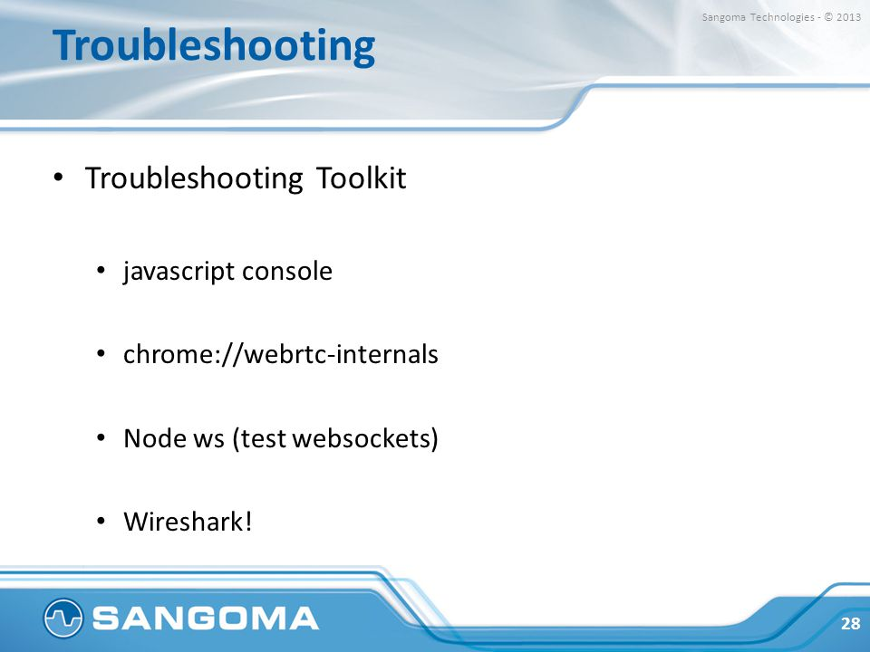 Troubleshooting Troubleshooting Toolkit javascript console