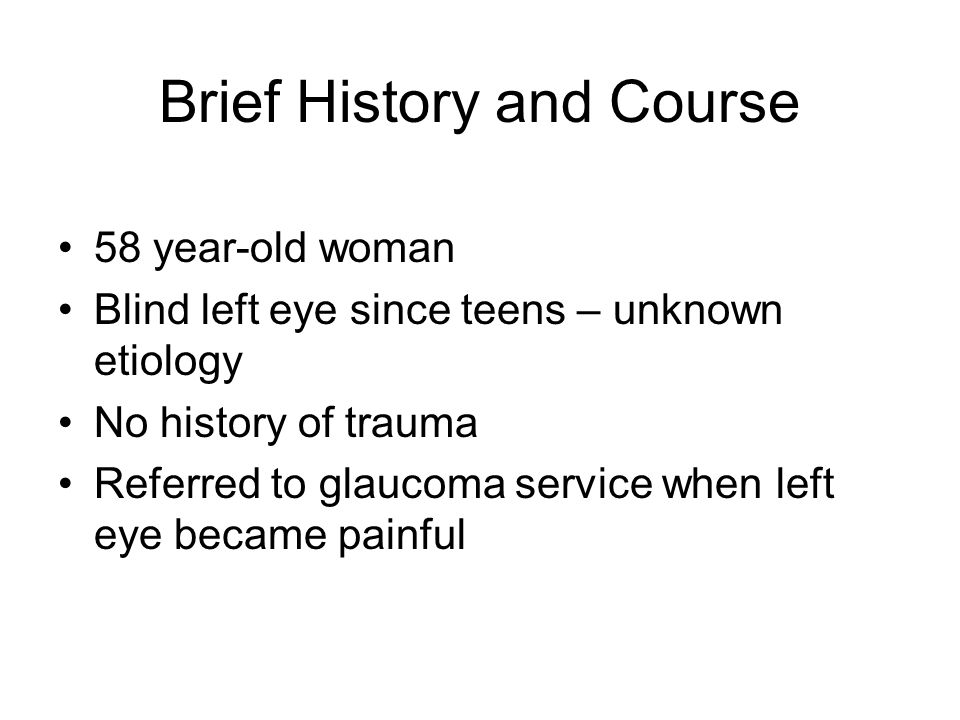 Brief History and Course