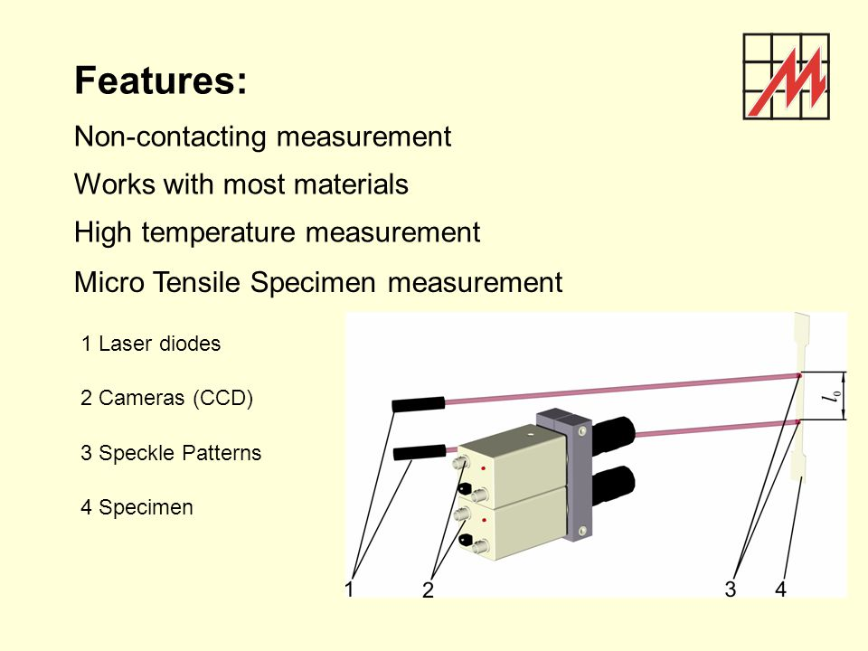 Features: Non-contacting measurement Works with most materials