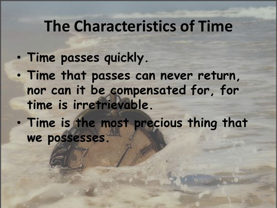 The Characteristics of Time