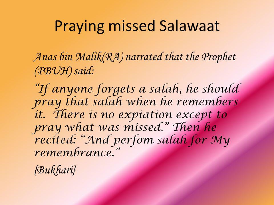 Praying missed Salawaat