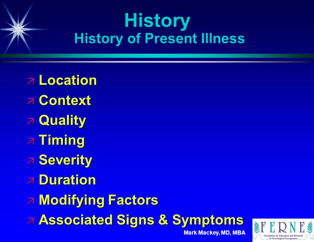 History History of Present Illness