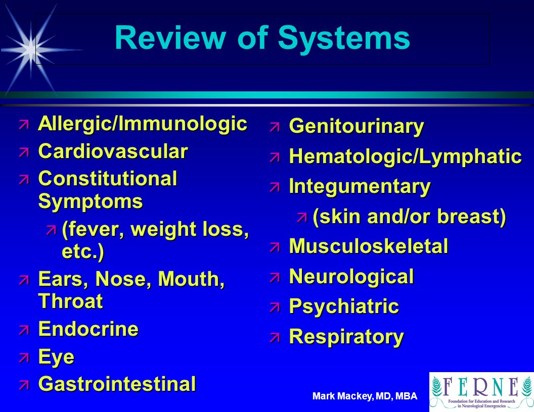 Review of Systems Allergic/Immunologic Cardiovascular