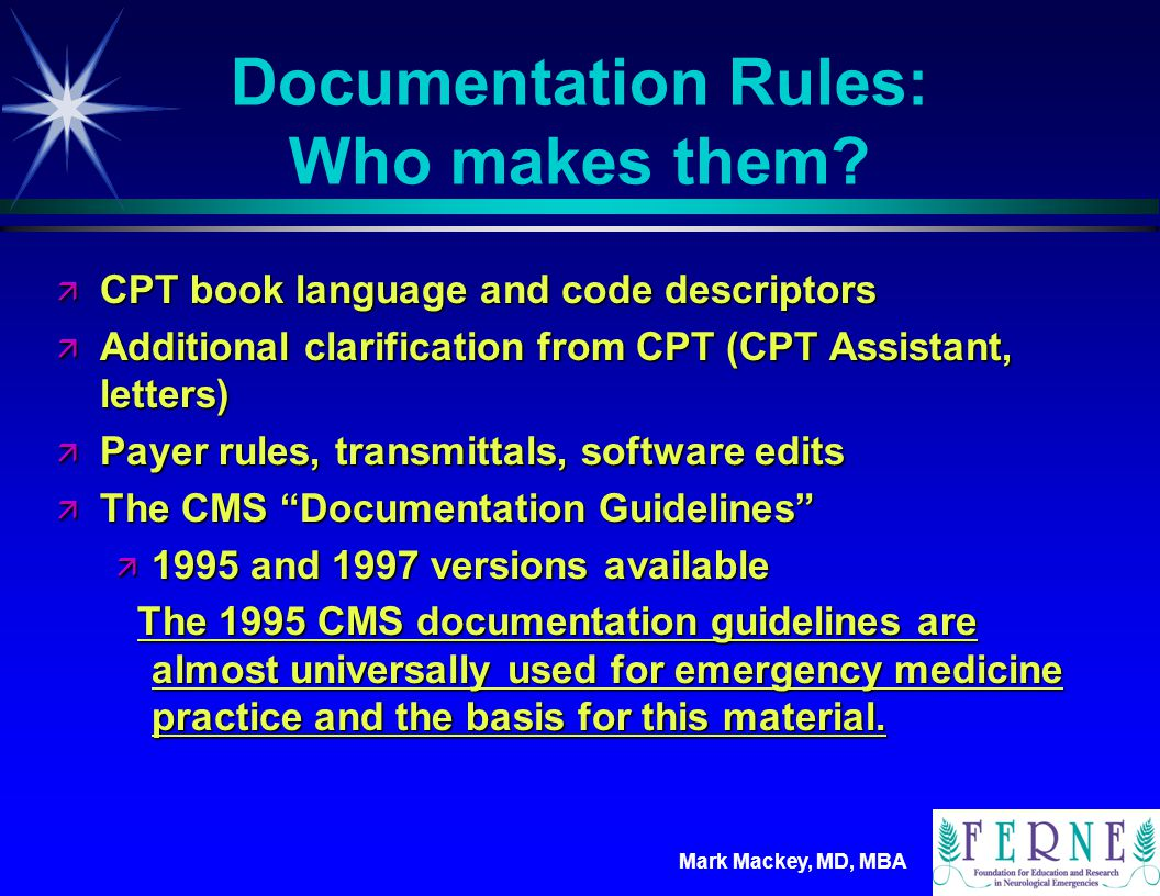 Documentation Rules: Who makes them