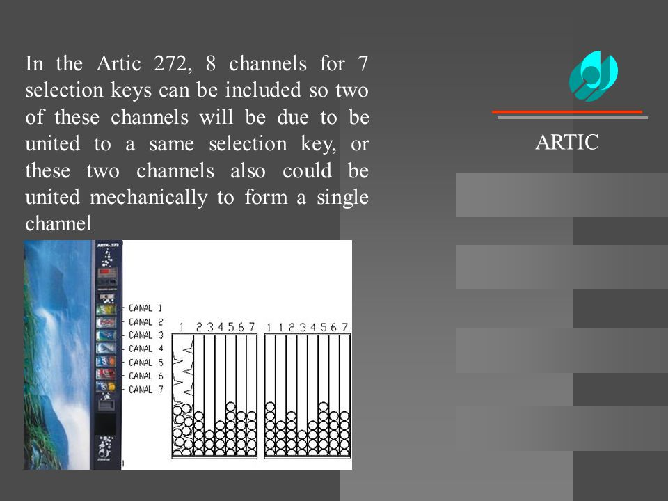 In the Artic 272, 8 channels for 7 selection keys can be included so two of these channels will be due to be united to a same selection key, or these two channels also could be united mechanically to form a single channel