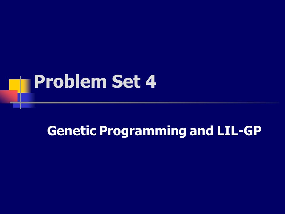 Genetic Programming and LIL-GP