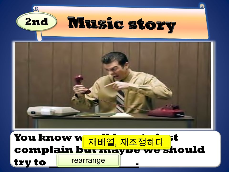 Music story 2nd. You know we all love to just complain but maybe we should try to .