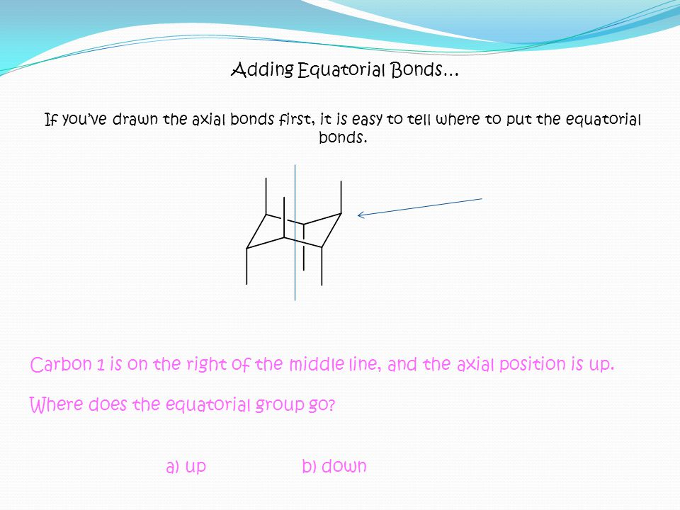 Adding Equatorial Bonds…