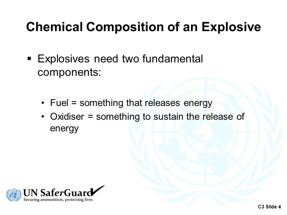 Chemical Composition of an Explosive