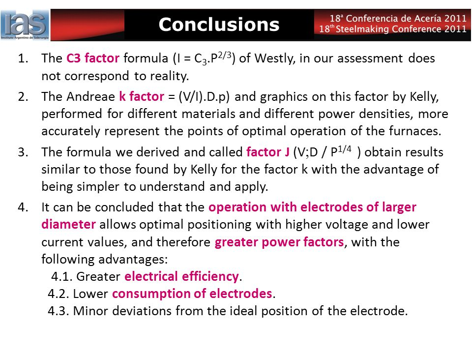 Conclusions The C3 factor formula (I = C3.P2/3) of Westly, in our assessment does not correspond to reality.