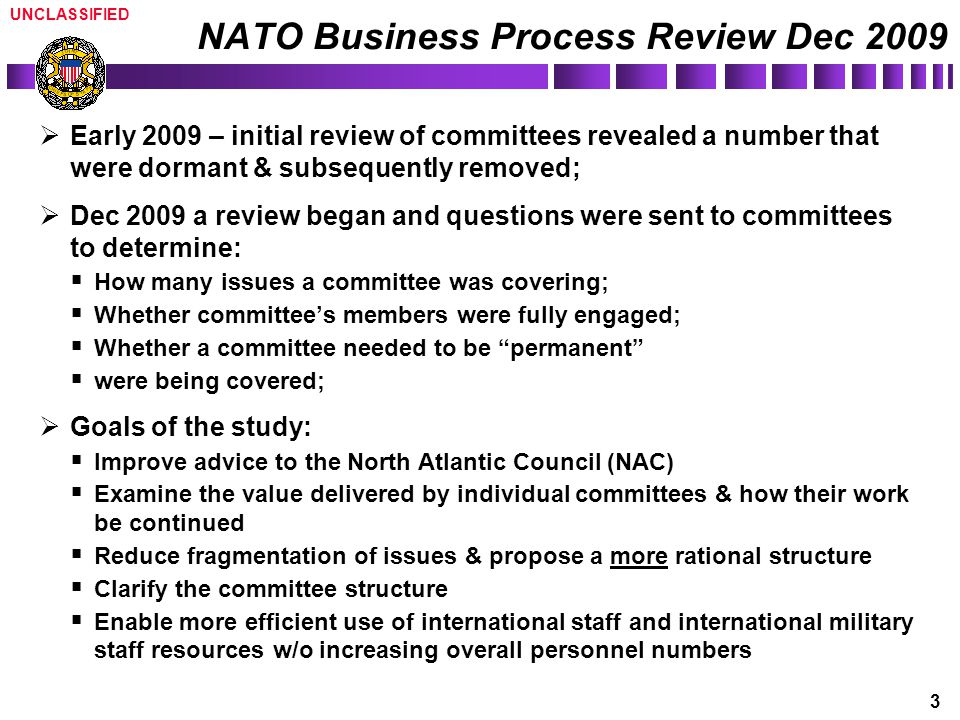 NATO Business Process Review Dec 2009