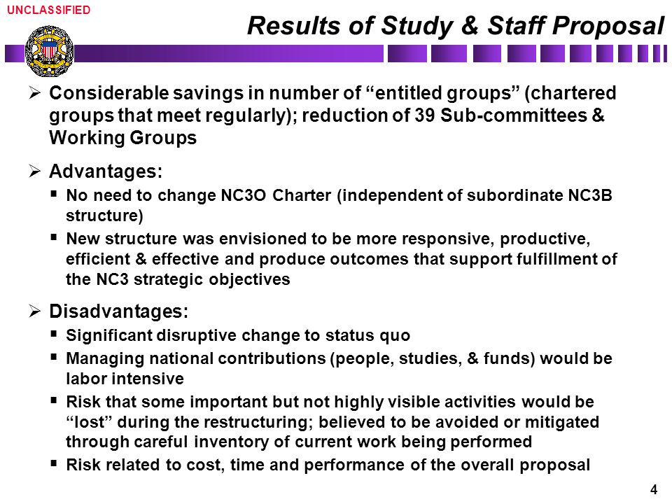 Results of Study & Staff Proposal