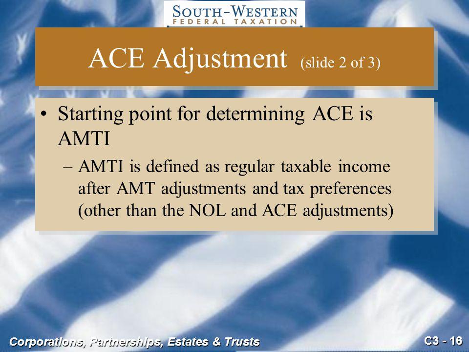 ACE Adjustment (slide 2 of 3)