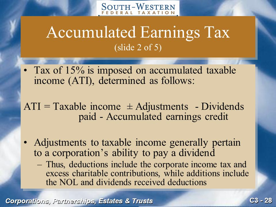 Accumulated Earnings Tax (slide 2 of 5)