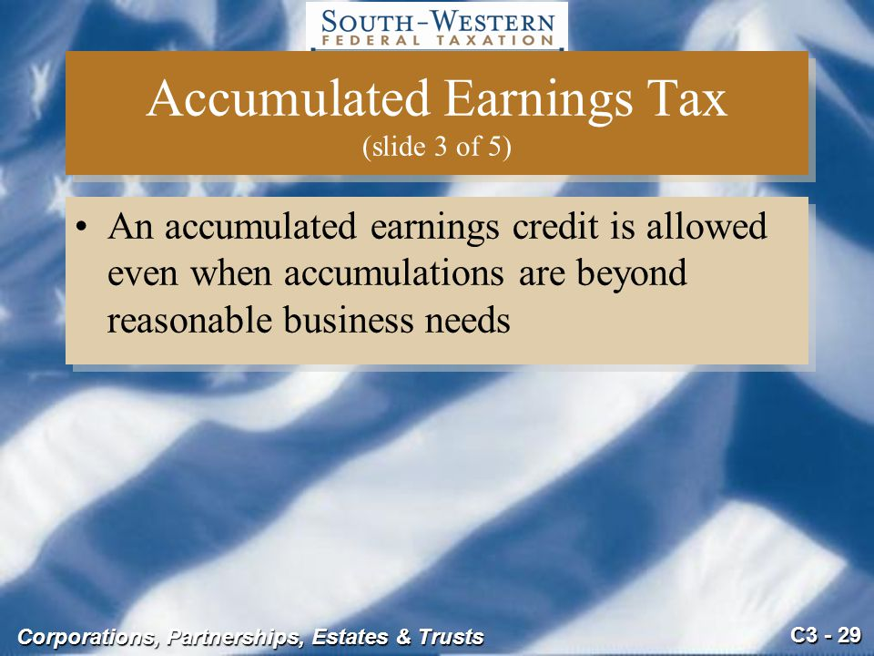 Accumulated Earnings Tax (slide 3 of 5)