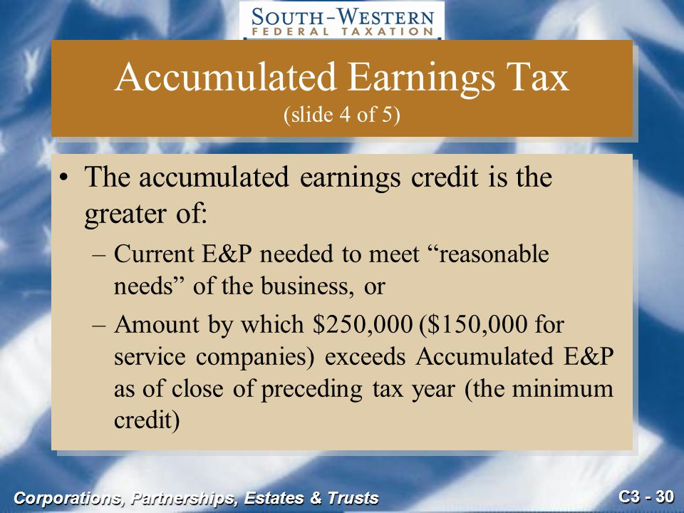 Accumulated Earnings Tax (slide 4 of 5)