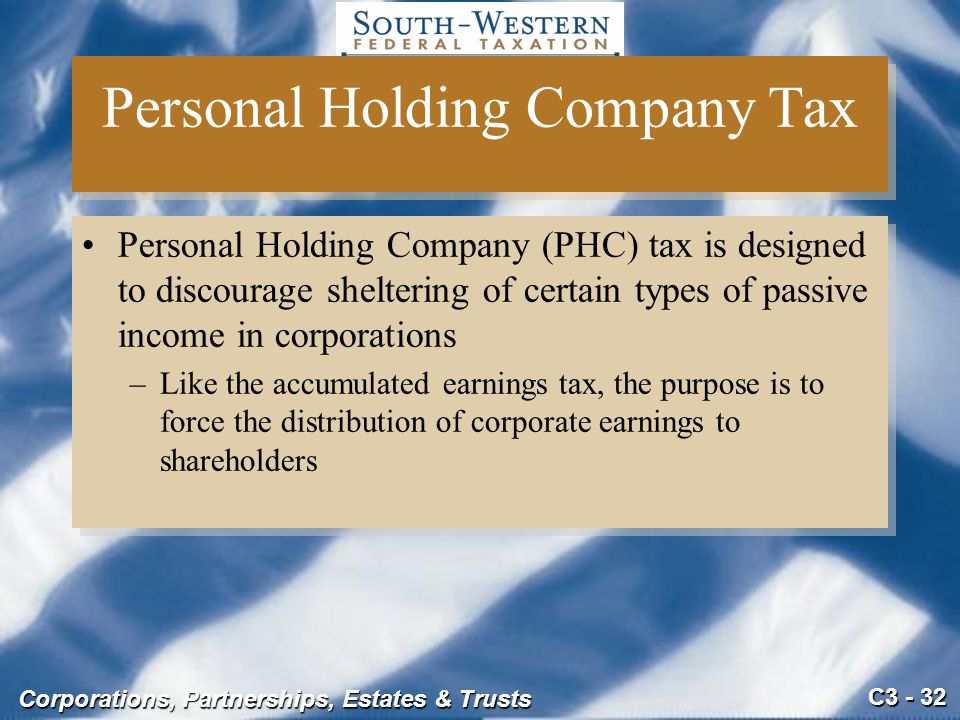 Personal Holding Company Tax