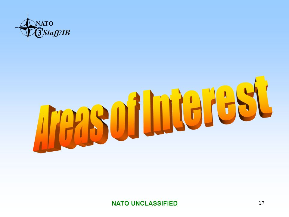 Areas of Interest NATO UNCLASSIFIED
