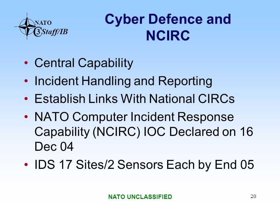 Cyber Defence and NCIRC
