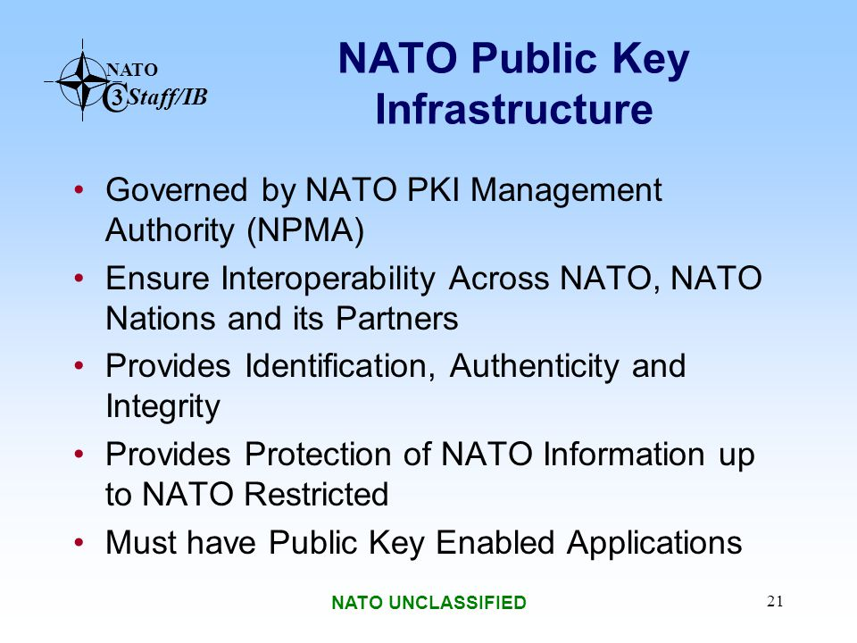 NATO Public Key Infrastructure