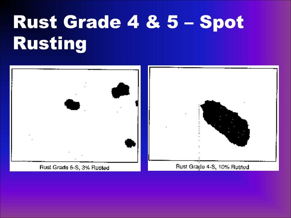 Rust Grade 4 & 5 – Spot Rusting