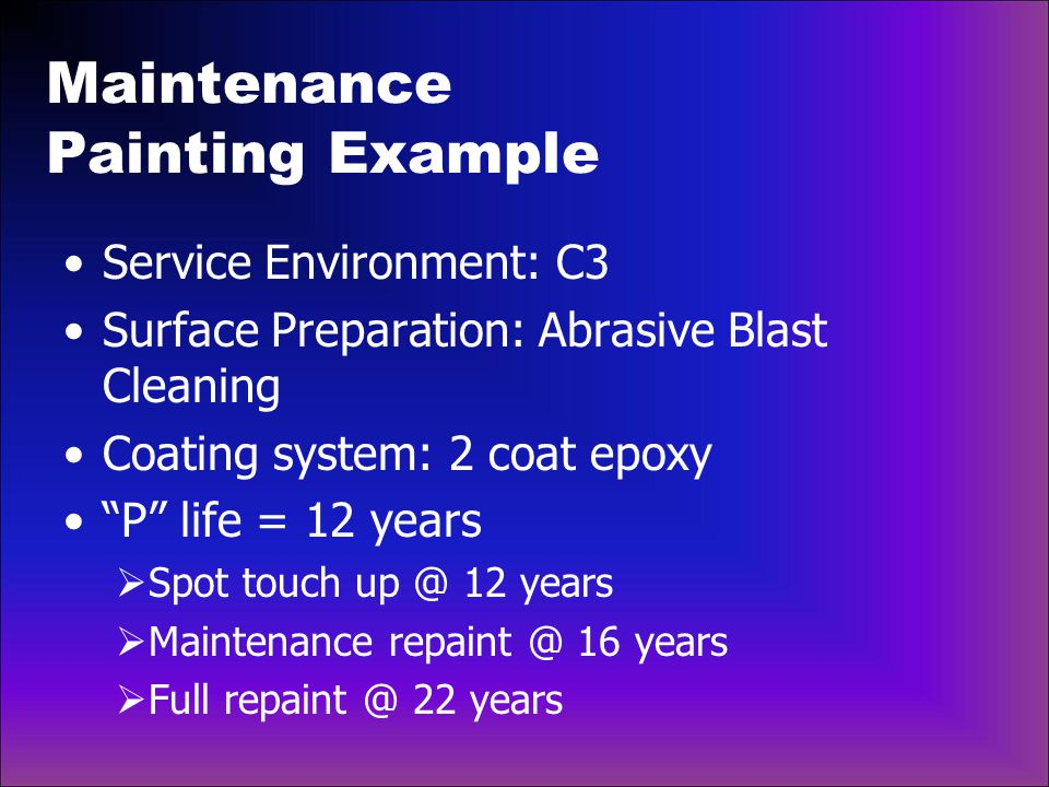 Maintenance Painting Example