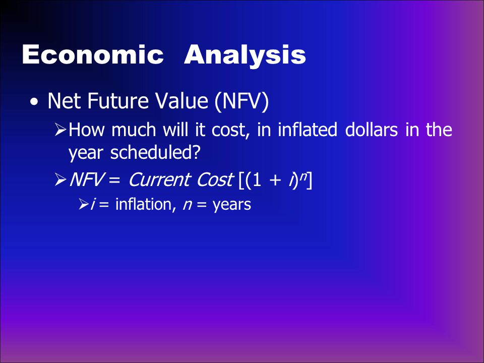 Economic Analysis Net Future Value (NFV)
