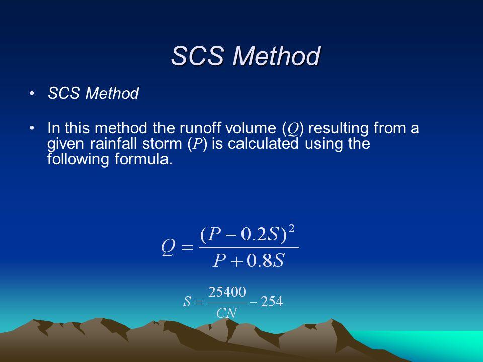 SCS Method SCS Method.