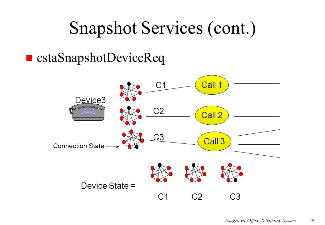 Snapshot Services (cont.)