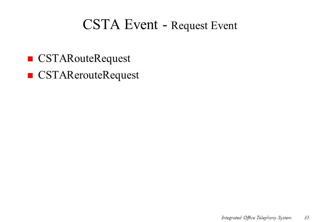 CSTA Event - Request Event