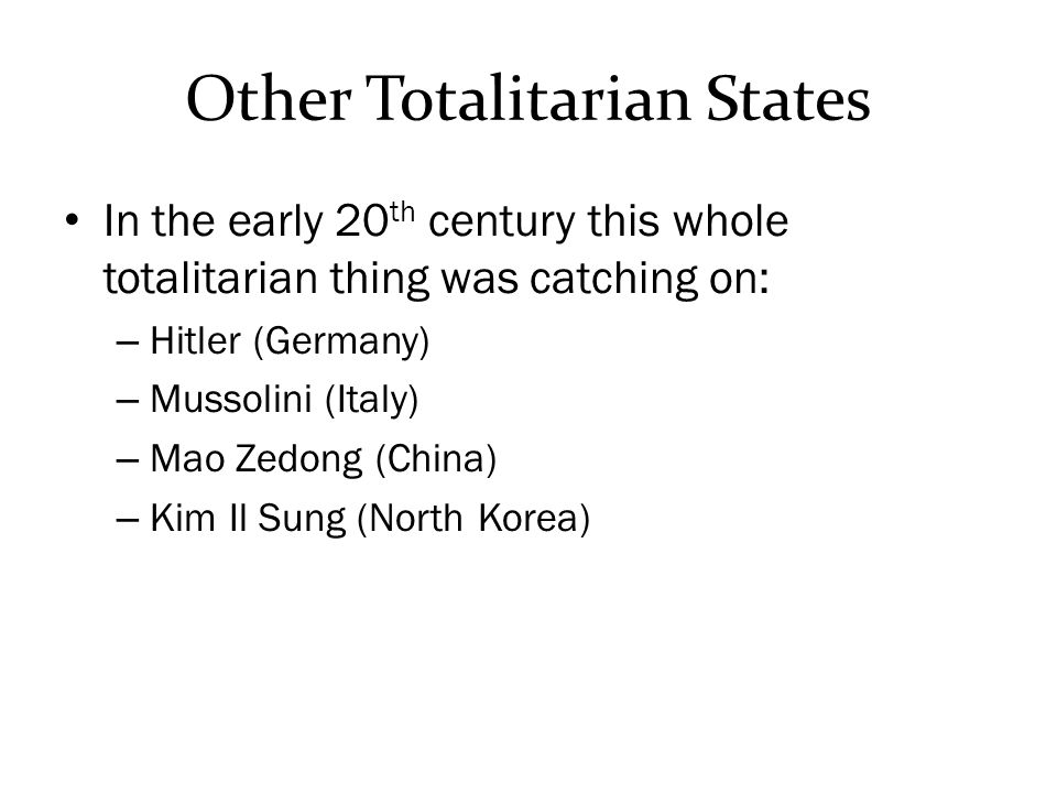 Other Totalitarian States