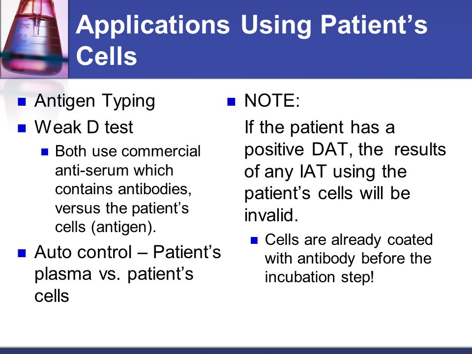 Applications Using Patient's Cells