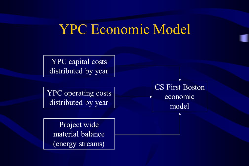 YPC Economic Model YPC capital costs distributed by year