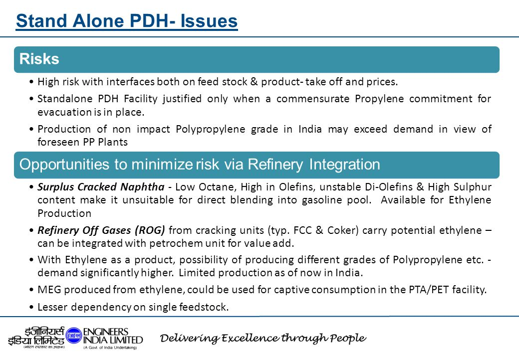Stand Alone PDH- Issues