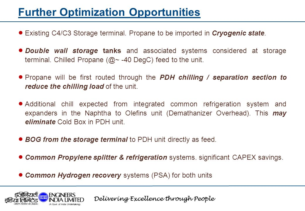 Further Optimization Opportunities