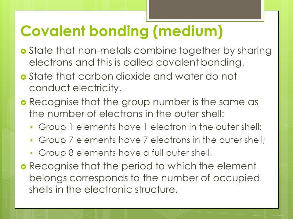 Covalent bonding (medium)