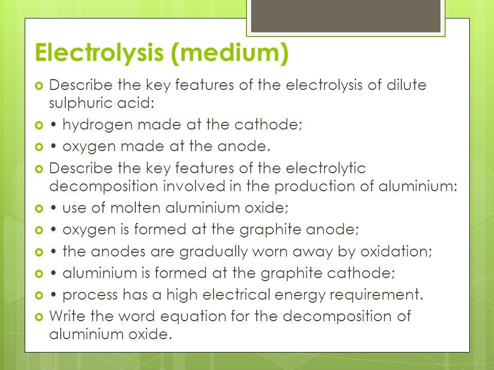 Electrolysis (medium)