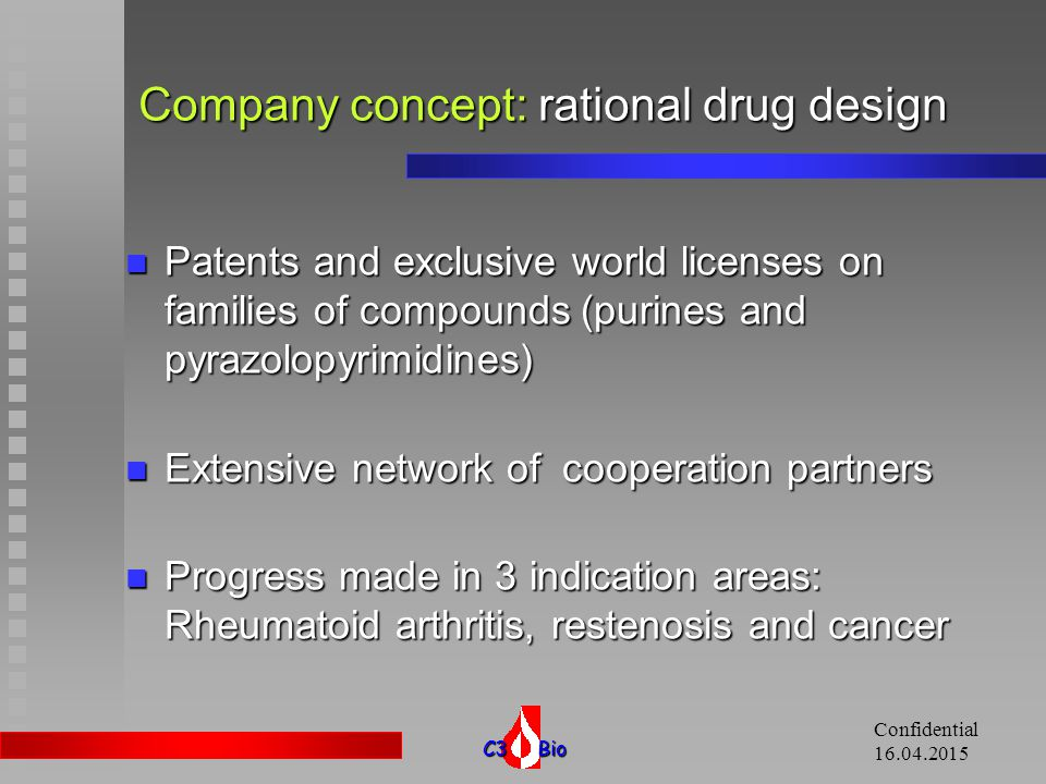 Company concept: rational drug design