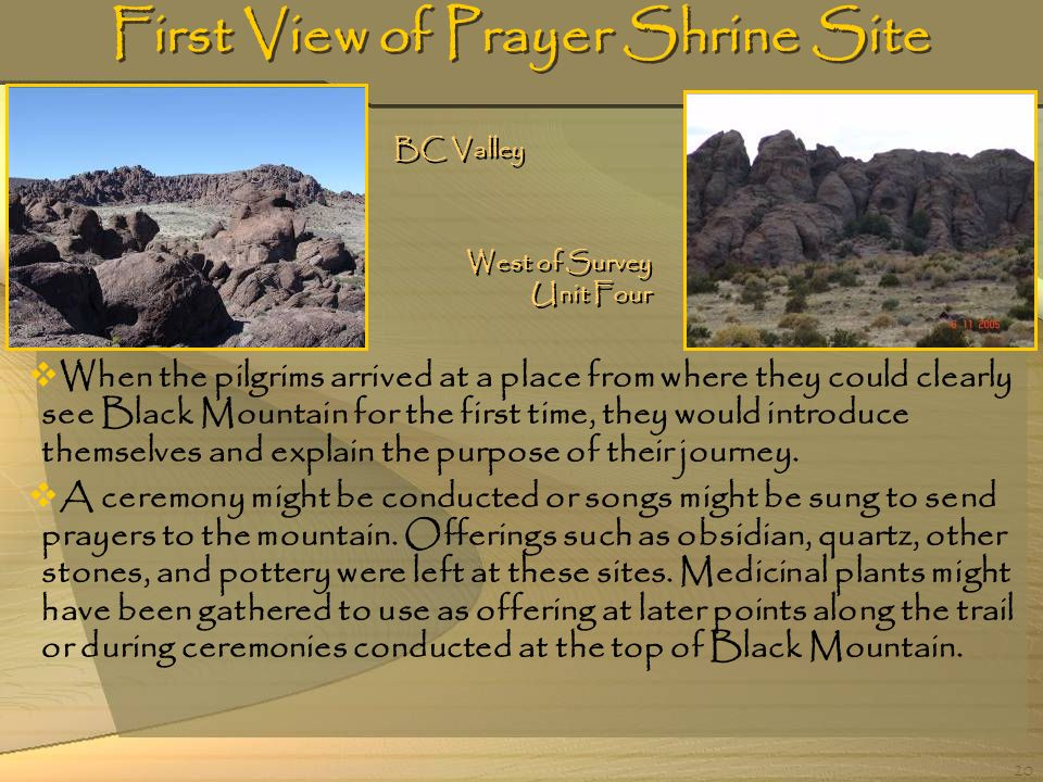 First View of Prayer Shrine Site