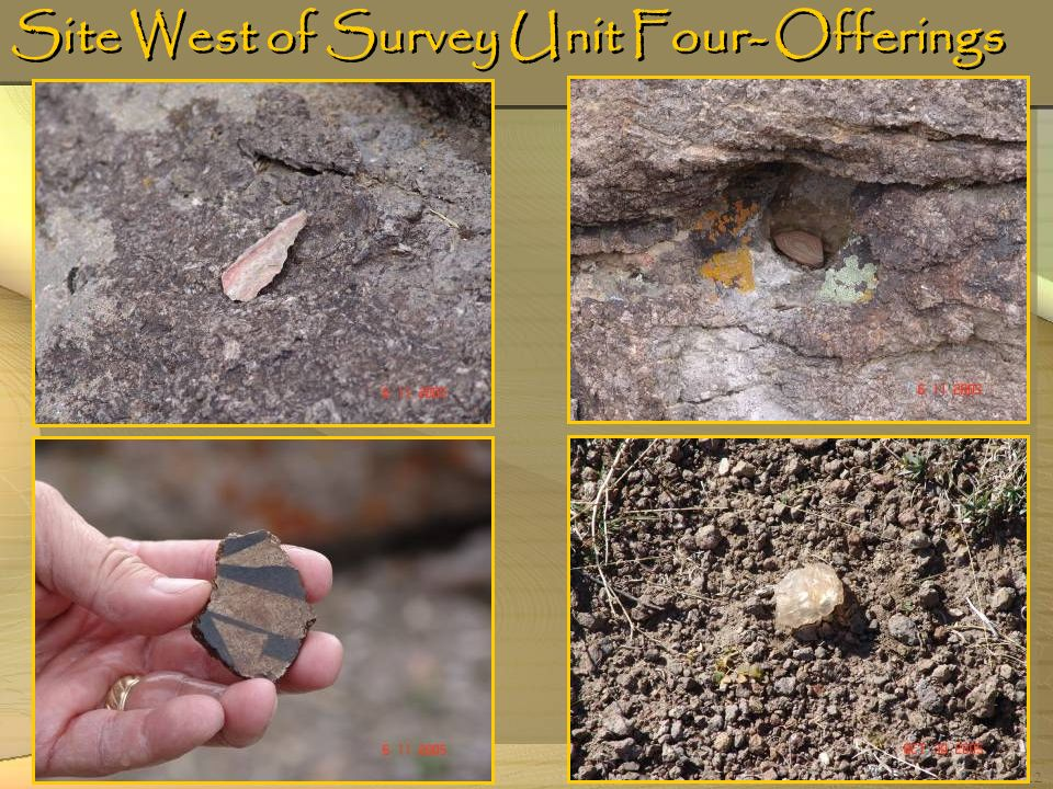 Site West of Survey Unit Four- Offerings