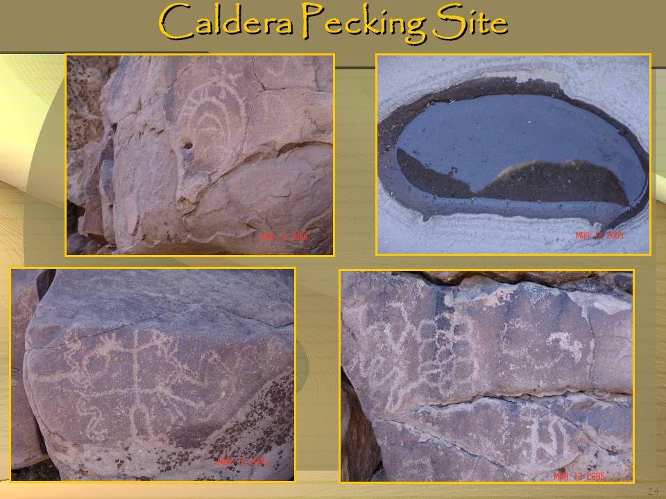 Caldera Pecking Site
