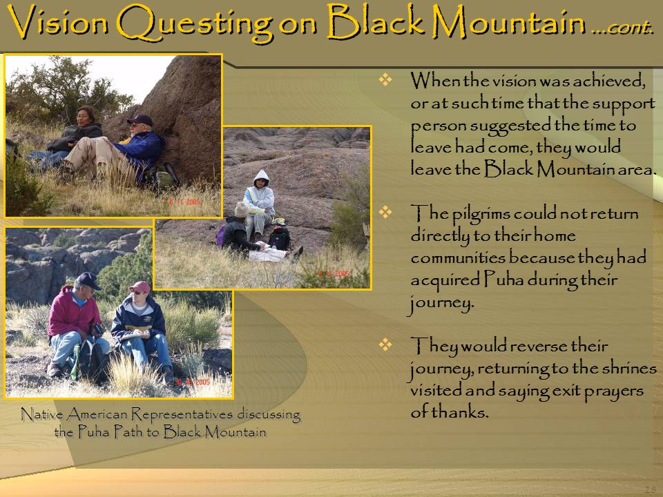 Vision Questing on Black Mountain ...cont.
