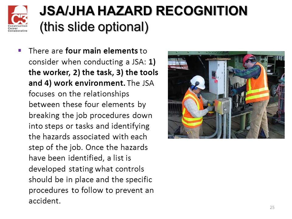 JSA/JHA HAZARD RECOGNITION (this slide optional)